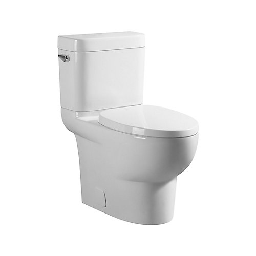 All-in-One 4.8 LPF High Efficiency Elongated  2-Piece Toilet with Concealed Trapway in White