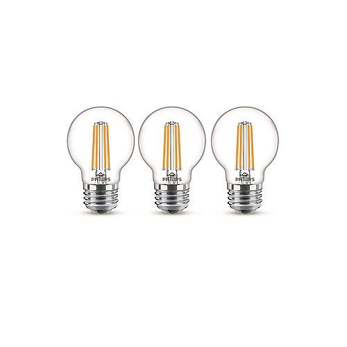 40W Equivalent Soft White Glass (2700K) G16.5 Globe Medium Base LED Light Bulb (3-Pack)