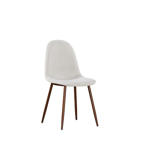 Elm Side Dining Chair in Cream (Set of 2)