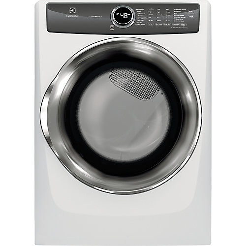 8.0 cu. ft. Front Load Electric Dryer with Instant Refresh in White