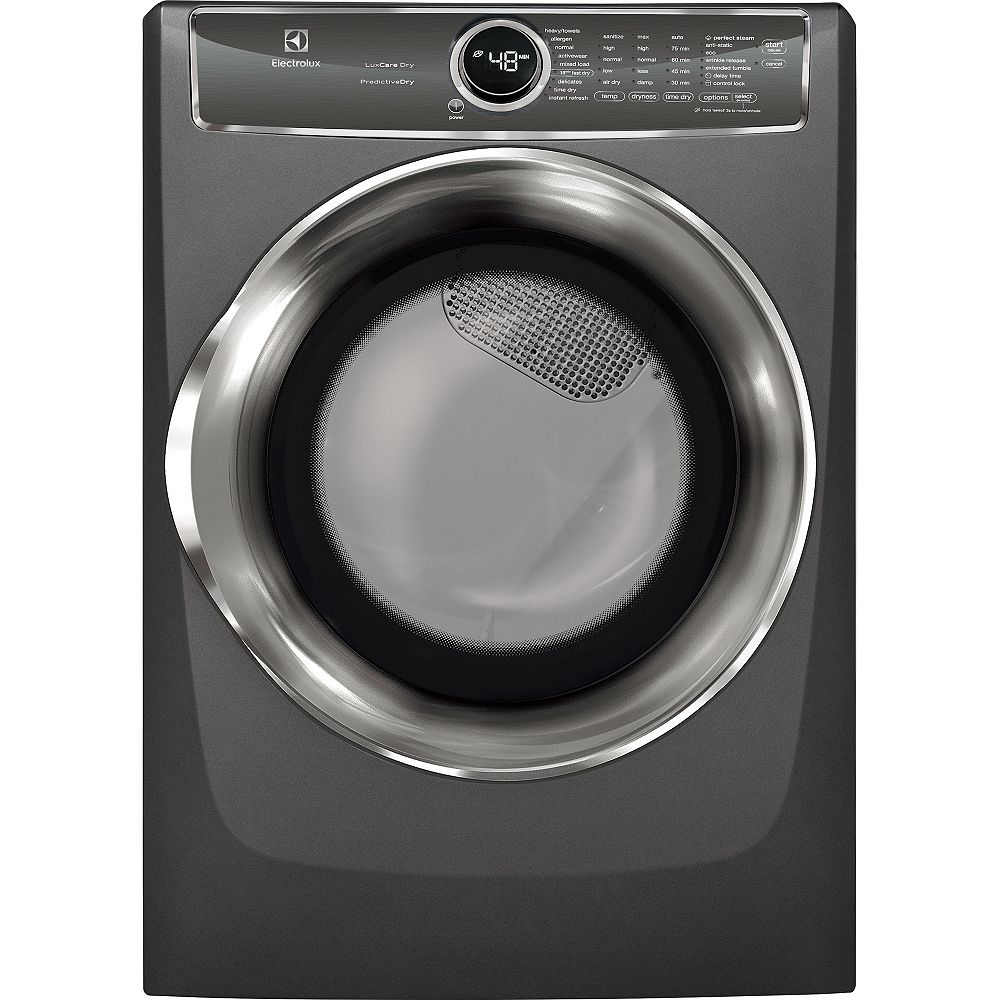 Electrolux 8.0 cu. ft. Front Load Perfect Steam Electric Dryer in Titanium - ENERGY STAR®