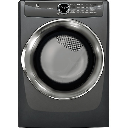 8.0 cu. ft. Front Load Perfect Steam Gas Dryer in Titanium - ENERGY STAR®