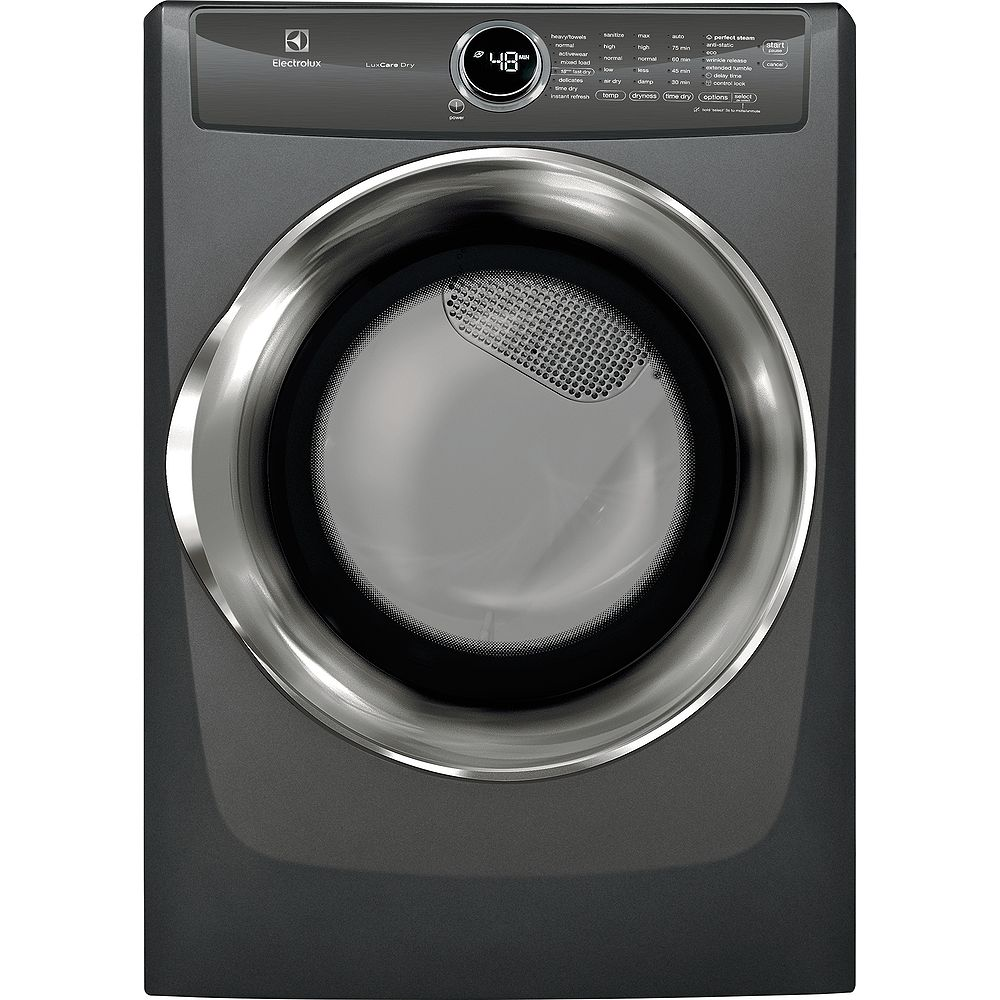 Electrolux 8.0 cu. ft. Front Load Perfect Steam Gas Dryer in Titanium - ENERGY STAR®