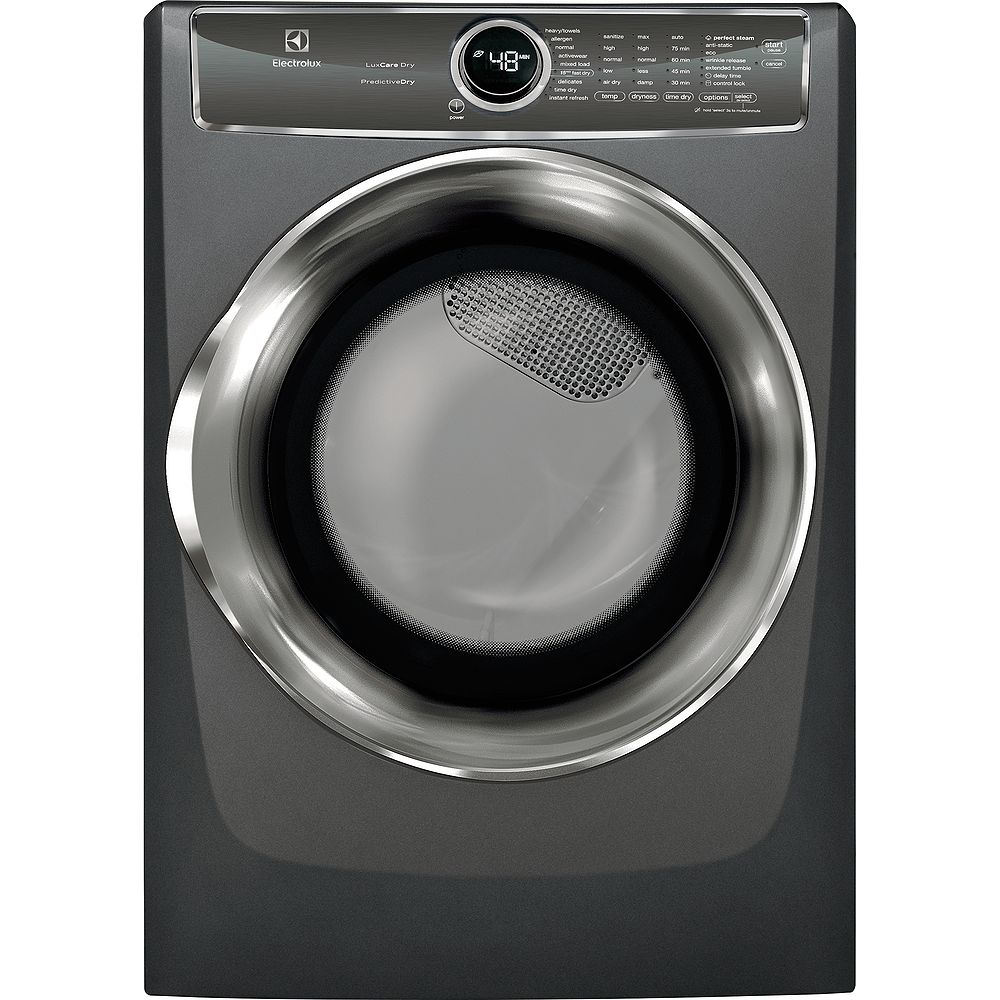 Electrolux 8.0 cu. ft. Gas Dryer with Steam, Predictive Dry and Instant Refresh in Titanium - ENERGY STAR®