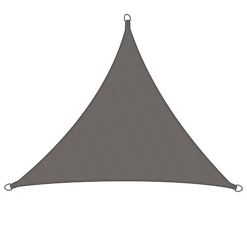 HDG 11 ft. x 10 ft. Sun Sail Triangle, Grey