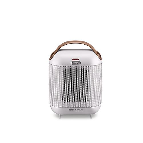 DeLonghi Capsule 1500W Ceramic Space Heater in White