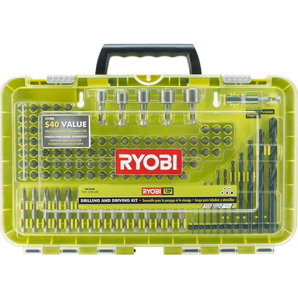 RYOBI Black Oxide Drill and Drive Kit (120-Piece)