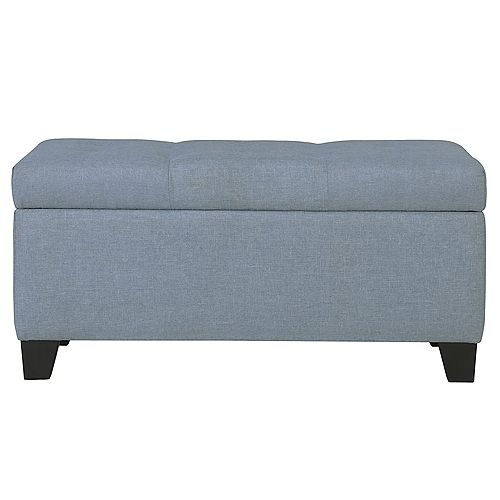 Sarah Storage Ottoman-Light Blue