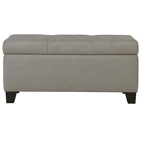 Sarah Storage Ottoman-Light Grey
