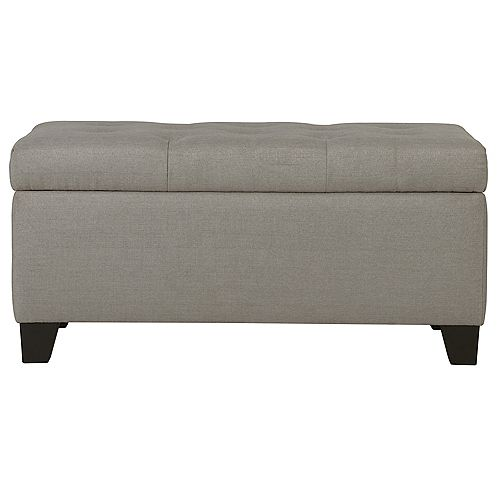 Sarah Storage Ottoman-Light Grey