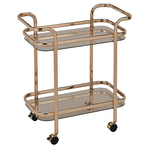 Zedd 2-Tier Bar Cart-Gold