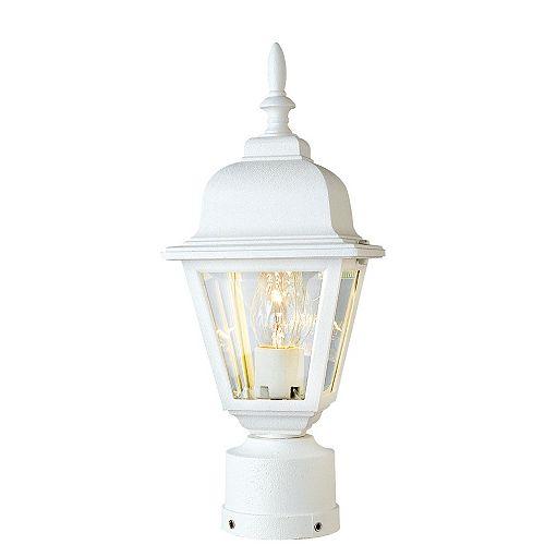 Argyle lanterne Post-Mount en blanc avec 1 lumière