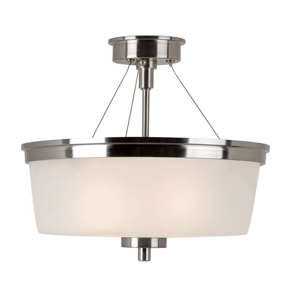 Bel Air Lighting Fusion Semi-affleurant en Nickel Brossé 2 Lumière