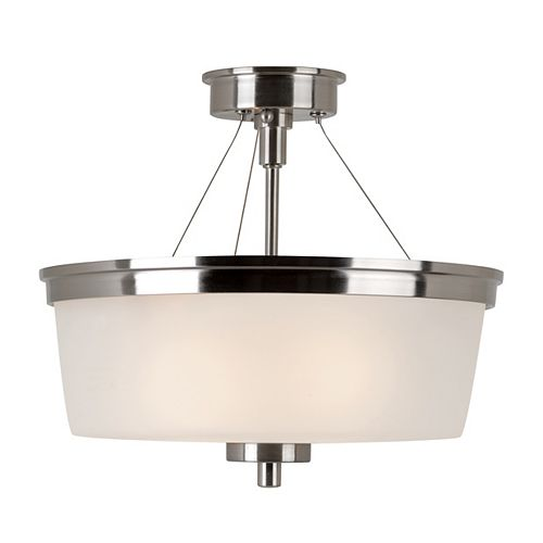 Bel Air Lighting Fusion Semi-affleurant en Nickel Brossé 2 Lumière