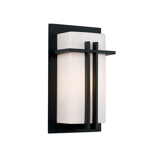 Doheny 1-Light Black Wall Lantern