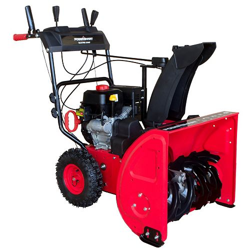 PowerSmart 24-inch 212 cc Two-Stage Electric Start Gas Snowblower