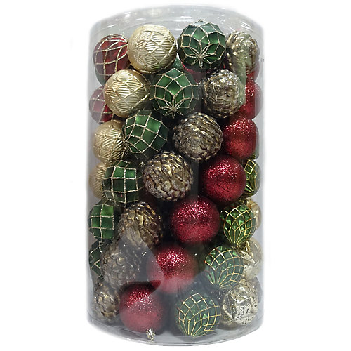 80 mm Ornaments (Assorted 75-Pack)