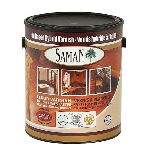 SamaN Vernis Hybride Semi-Lustré 3,78L