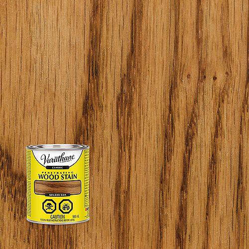 Teinture à bois classique pénétrante à base d'huile au chêne doré, 946 mL