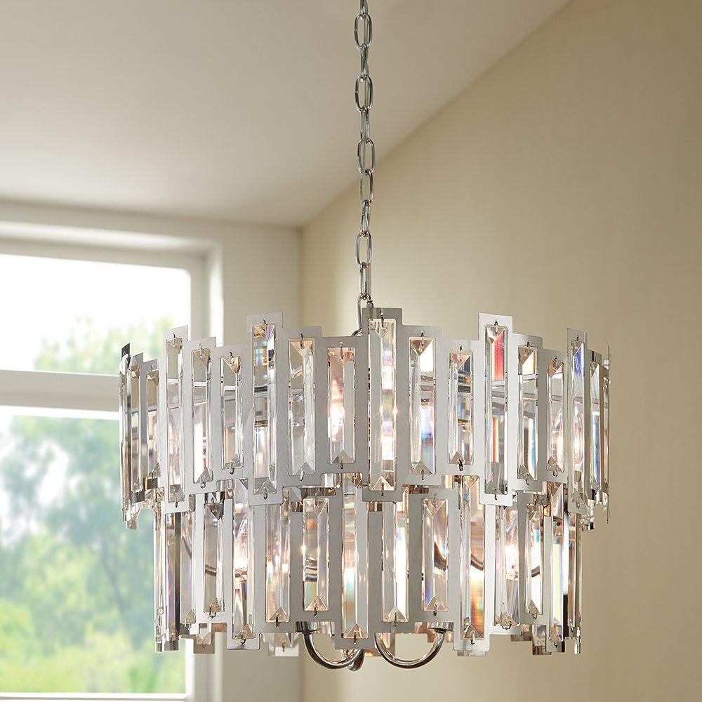 Home Decorators Collection 6 Light Pendant Chrome
