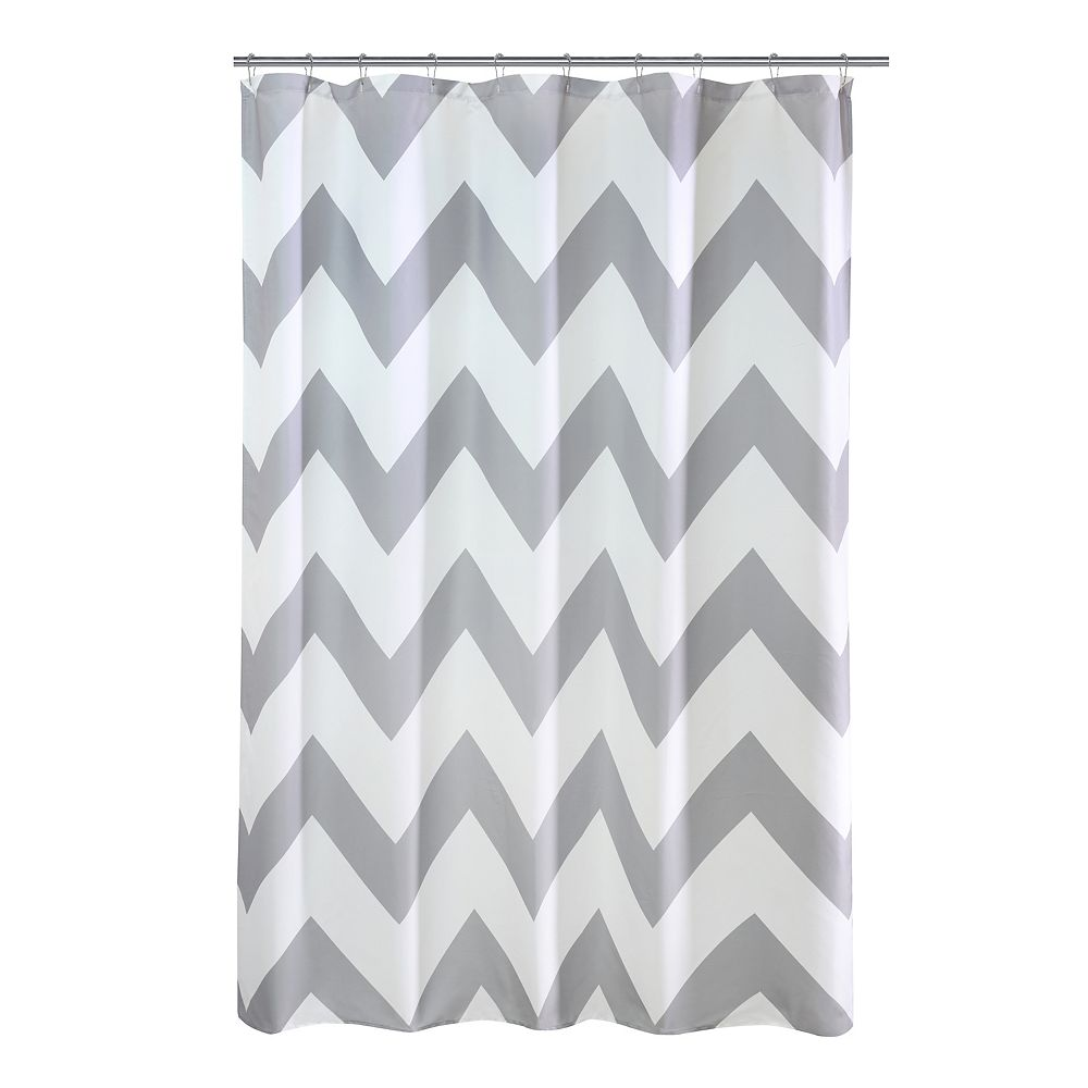 Couture Chevron Fabric Shower Curtain 70 inch x 72 inch