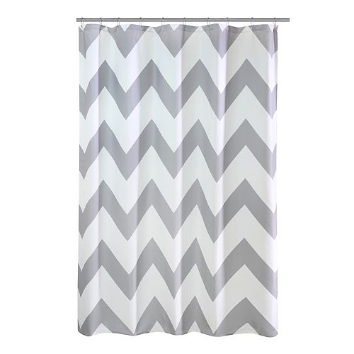 Chevron Fabric Shower Curtain 70 inch x 72 inch