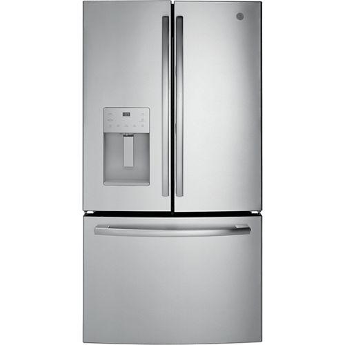 GE 36-inch W 25.5 cu. ft. Bottom Freezer French Door Refrigerator in Stainless Steel - ENERGY STAR®