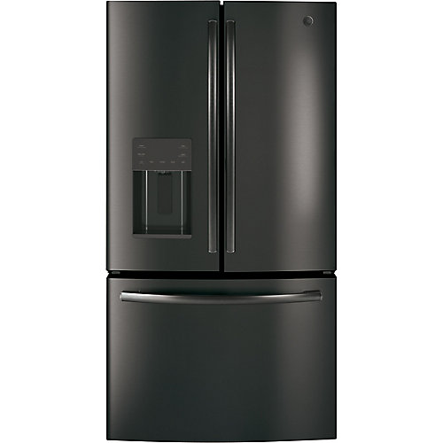 36-inch W 25.6 cu. ft. Bottom mount French-Door Refrigerator in Black Stainless Steel - ENERGY STAR®