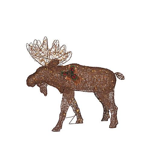 48-inch Warm White LED-Lit Twinkle Moose Christmas Decoration