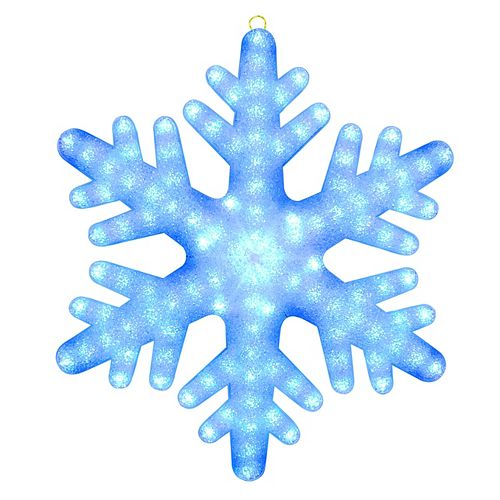 24 inch Color Blast Remote Controlled RGB LED 84-Light Giant Snowflake