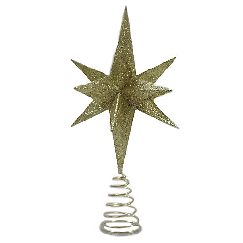 14-inch Gold Shatter-Resistant Christmas Tree Topper