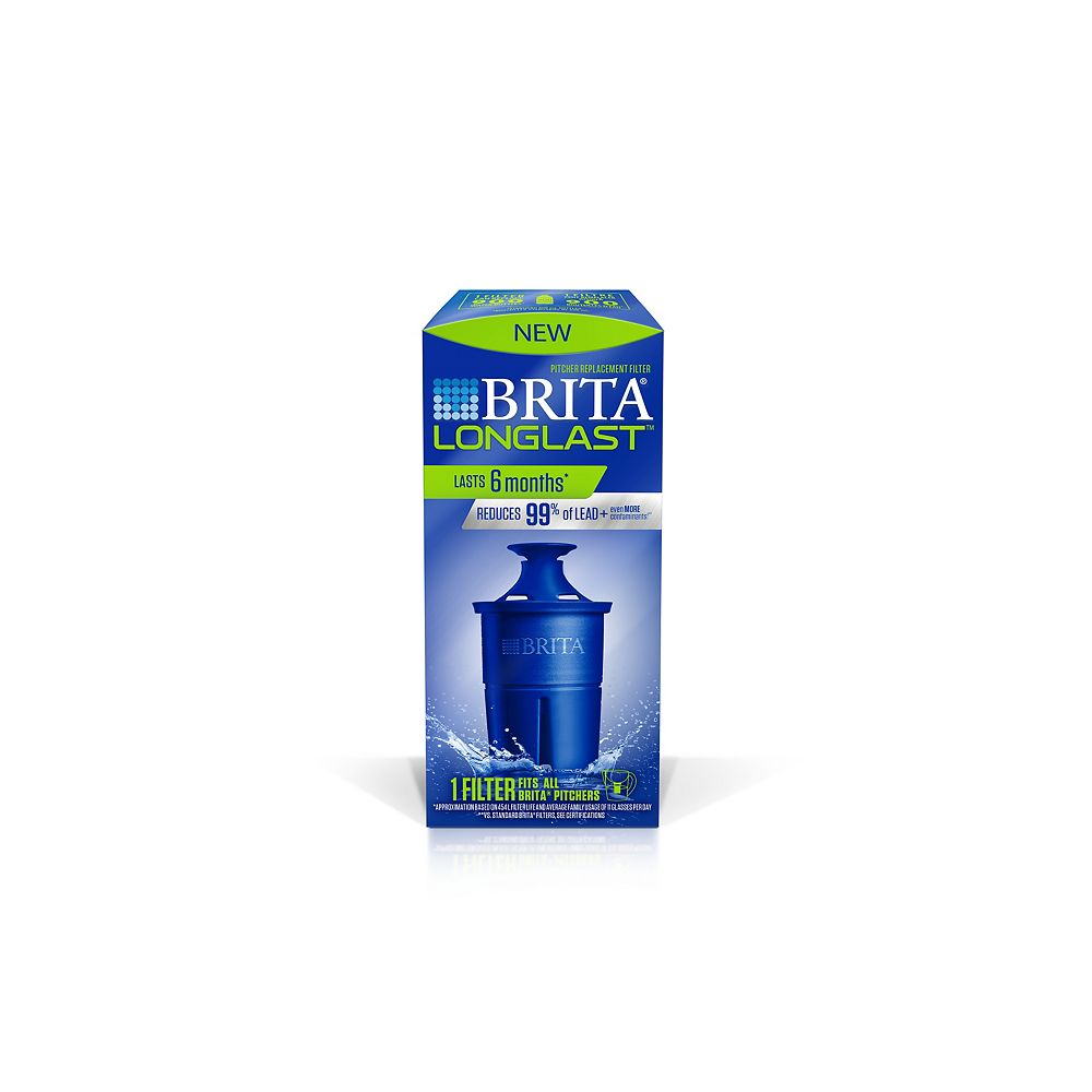Brita Longlast Water Filter Pitcher Replacement Filters, 1 Count