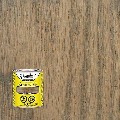 Varathane Teinture à bois à base d'huile pénétrante classique en gris classique, 946 mL