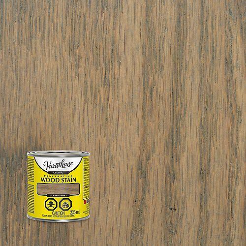 Teinture à bois à base d'huile pénétrante classique en gris classique, 236 mL