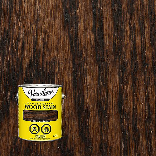 Varathane Classic Penetrating Oil-Based Wood Stain in Red Mahogany, 3.78 L