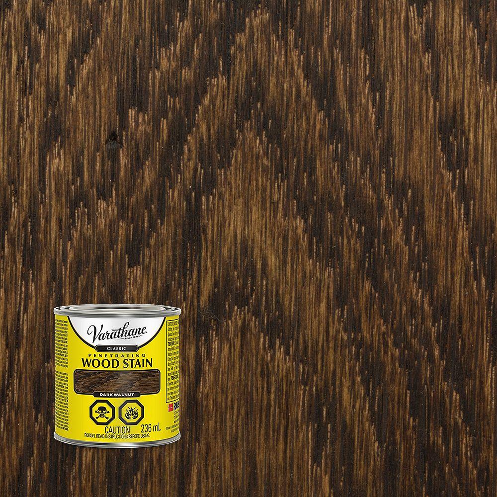 Varathane Teinture à bois classique pénétrante à base d'huile dans du noyer foncé, 236 mL