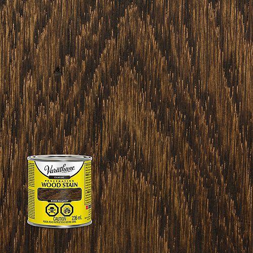 Teinture à bois classique pénétrante à base d'huile dans du noyer foncé, 236 mL