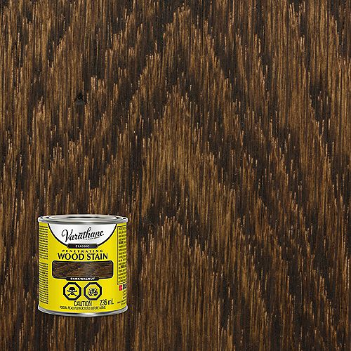 Classic Penetrating Oil-Based Wood Stain In Dark Walnut, 236 mL