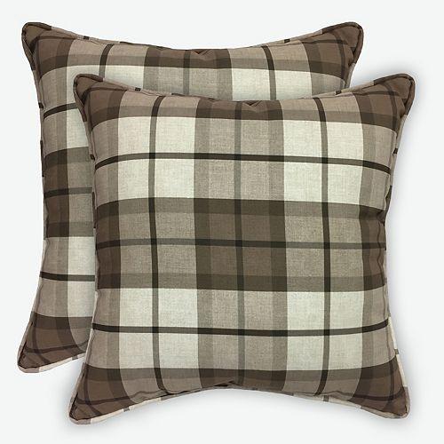 Buffalo Plaid 17 inch Pillows (2-Pack)