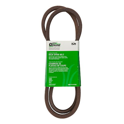 MTD Genuine Factory Parts Replacement 38-inch Lawn Tractor Deck Drive Belt (2004 And Prior)