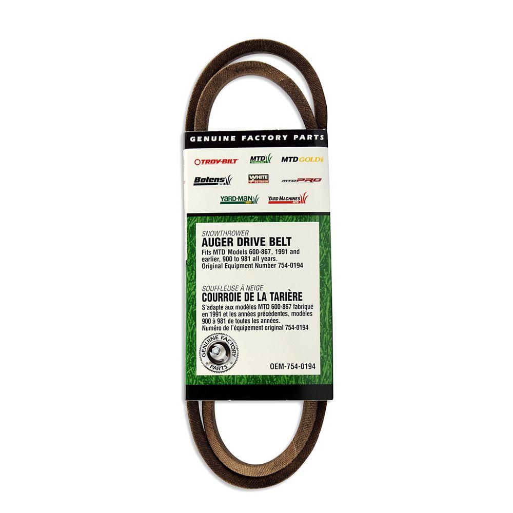 MTD Genuine Factory Parts Replacement Snowblower Auger Drive Belt - 800 Series