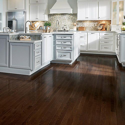 AO Oak Barista Brown 3/4-inch Thick x 2 1/4-inch W Hardwood Flooring (20 sq. ft. / case)