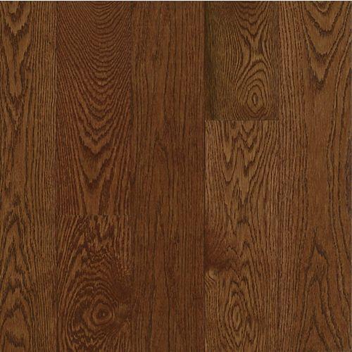 Bruce Plancher AO, bois massif, 3/4 po x 5 po x longueurs variées, Chêne Deep Russet, 23,5 pi2/boîte