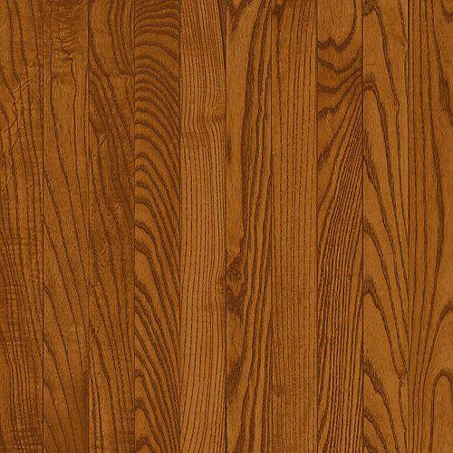 Plancher AO, bois massif, 3/4 po x 5 po x longueurs variées, Chêne cuivre foncé, 23,5 pi2/boîte