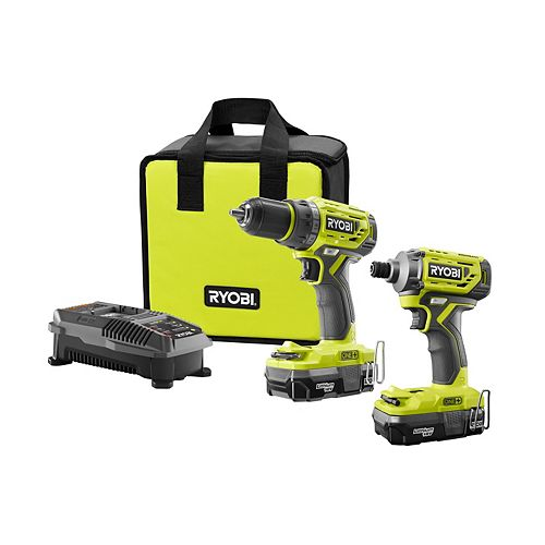 18V ONE+ Li-Ion Cordless Brushless Drill/Driver-Impact Driver Kit (2-Tool)w/(2) 1.3 Ah Batteries