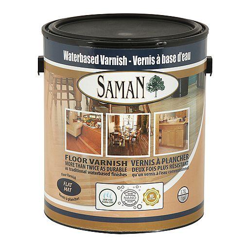 SamaN Vernis à base d'eau Mat 3,78L