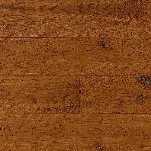 Bruce Plancher à embossage AV, bois massif, 3/4 po x 5 po x long. var., Chêne d'automne classique, 23,5 pi2/boîte