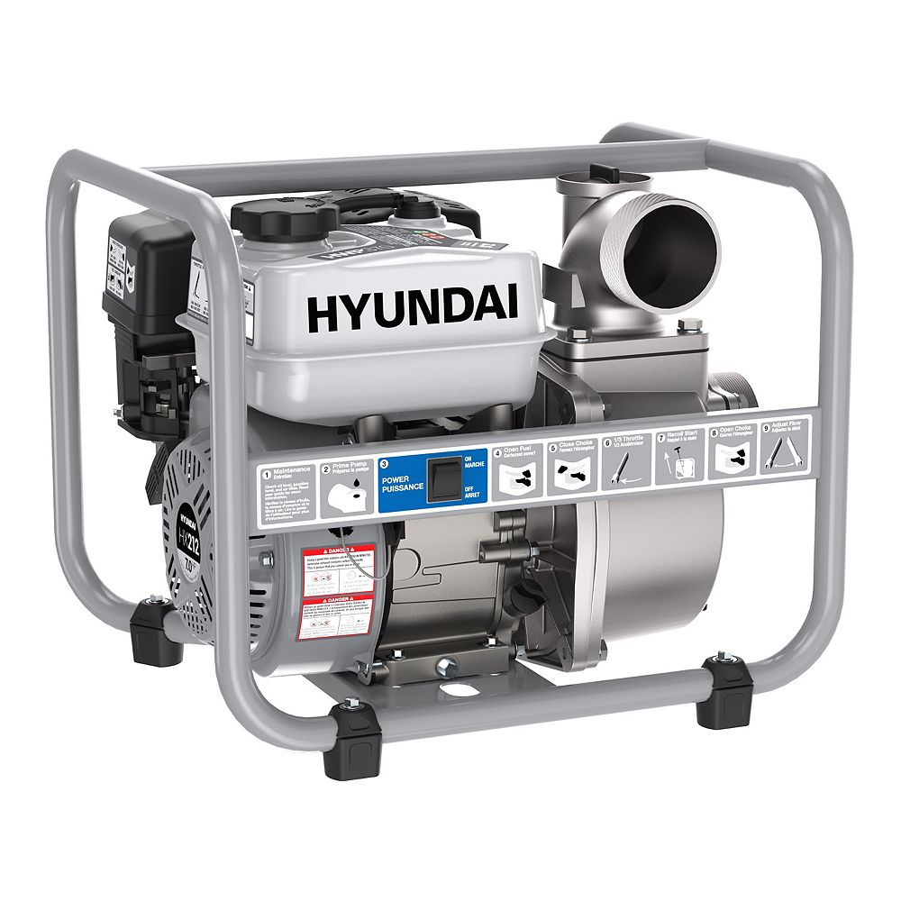 Hyundai Hwp370 3in Gas Powered 7 Hp 212cc Water Pump The Home Depot Canada