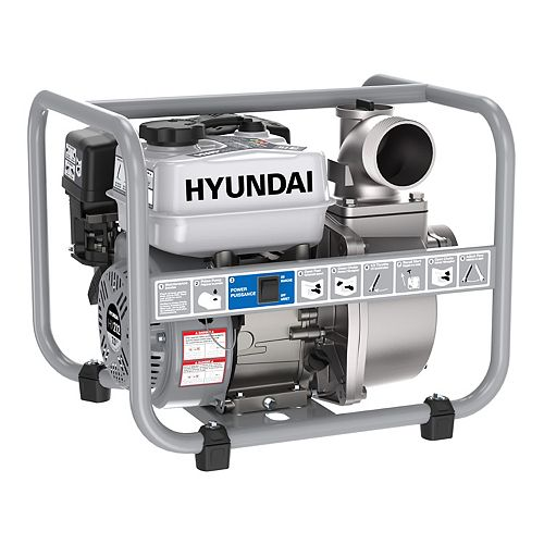 "HWP370 HWP370 Pompe à eau 3"" à essence 7 HP 212cc"