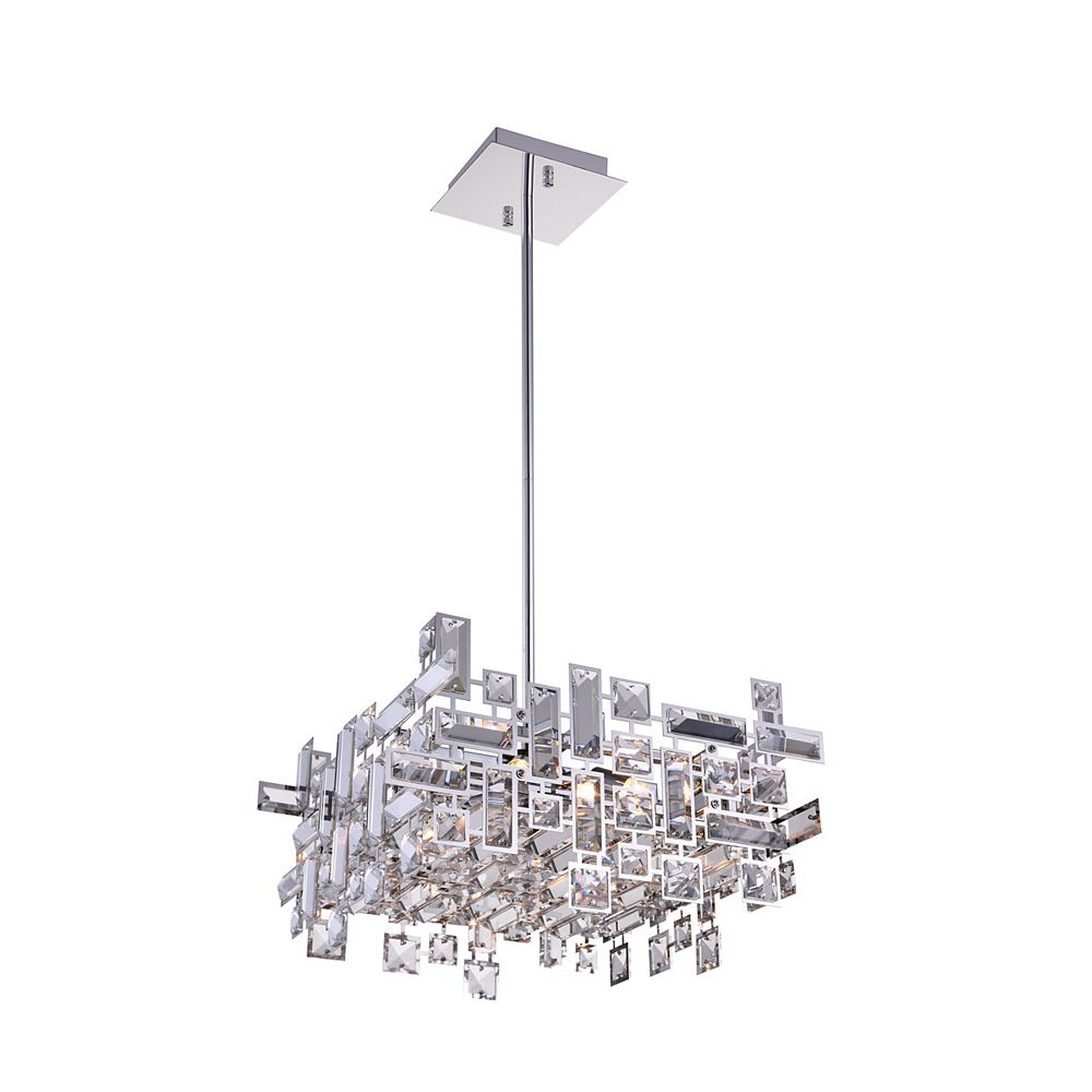 CWI Lighting Arley 14 inch 6 Light Chandelier with Chrome Finish